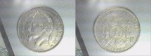 World Coins - silver 5 francs 1868 BB Strasbourg Mint Napoleon III