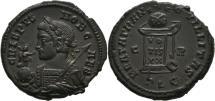Ancient Coins - ae follis Crispus lyon mint ric UNLISTED very rare bust for Crispus for lugdunum