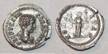 Ancient Coins - silver denarius for geta ric 13 s