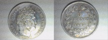 World Coins - silver 5 francs 1843 A Paris mint from LOUIS PHILIPPE I er