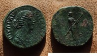 Ancient Coins - ae sestertius for faustina II