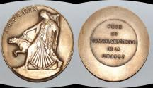World Coins - ae medal from C MASCAUX  51 mm art deco very rare bronze