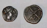 Ancient Coins - celtic silver obol from marseille  massalia LT 530  0,6g