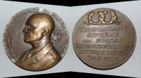 World Coins - ae medal from A MORLON EISENHOWER buste  68 mm bronze medal