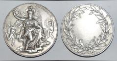 """World Coins - silver medal from J C CHAPLAIN 68mm  """"au merite""""  silver very rare"""