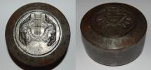 World Coins - poinçon art deco from E BLIN tete de Janus 80/50 mm iron medal