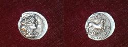 Ancient Coins - silver drachm from marseille massalia depeyrot 41.48 Surfrappe 2,7 g very rare