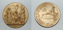 World Coins - silver gold plated medal from ? 51 mm chrisme chrismon rare
