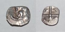 Ancient Coins - celtic silver denarius from volques tectosages indeterminé 3,5g