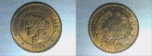 World Coins - bronze 5 centimes CERES 1888 A PARIS mint