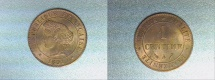 World Coins - bronze 1 centime ceres 1891 A PARIS MINT