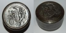 World Coins - lot medal and poinçon from BESSOU 52 mm course a velo iron art nouveau medal