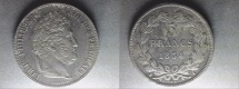 World Coins - silver 5 francs 1834 A Paris mint from louis philippe I er