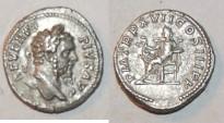 Ancient Coins - silver denarius for septimus severus ric 236