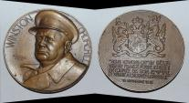 World Coins - ae medal from PIERRE TURIN CHURCHILL  68 mm bronze medal