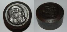World Coins - poinçon art deco from E BLIN 60 mm PAN iron medal