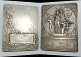 World Coins - Ae silvered medal from Rasumny 62/47 mm ( Le Tir ) nice bronze medal