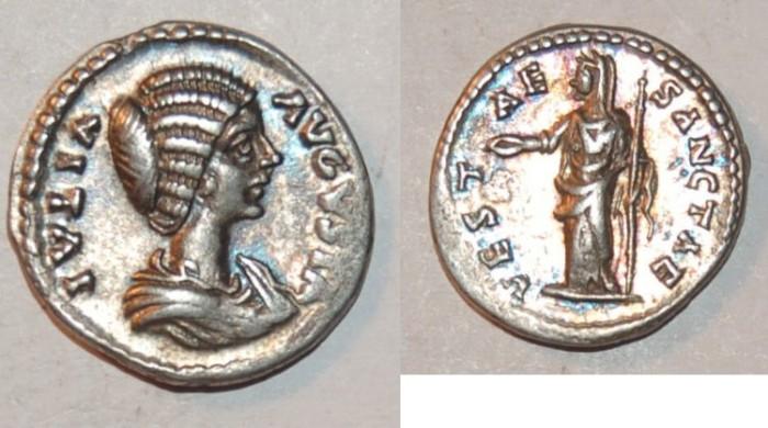 Ancient Coins - silver denarius for iulia domna ric 648