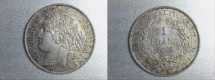 World Coins - silver 1 franc ceres oudiné 1895 A paris mint