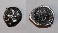 Ancient Coins - silver obol from massalia LT 510  0,8g rare celtic coin