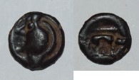 Ancient Coins - ae bronze potin from aulerques eburovices  2,2g