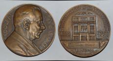 World Coins - ae medal from Jean Vernon  adolphe cheron  70mm bronze