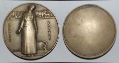 World Coins - ae medal from Jean Vernon 60mm perrette et le pot au lait bronze