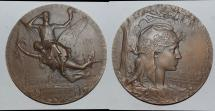 World Coins - ae medal from J C CHAPLAIN 63mm exposition 1900 bronze rare