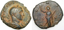 Ancient Coins - Volusian Sestertius-Pax