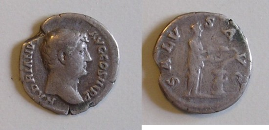 Ancient Coins - Hadrian - Denarius - Salus