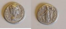 Ancient Coins - Julia Domna - Denarius - Juno