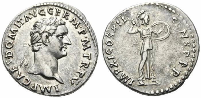 Ancient Coins - Domitian. AD 81-96. Denarius.