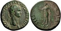 Ancient Coins - Claudius. AD 41-54. Sestertius.