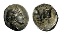 Ancient Coins - IONIA, Magnesia ad Maeandrum. c. 350-325 BC. Obol.