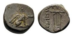 Ancient Coins - IONIA, Teos. Circa 320-294 BC. Diobol.