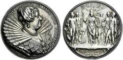 World Coins - FRANCE. Marie de'Medici. Queen consort of France, 1600-1610. Medal.