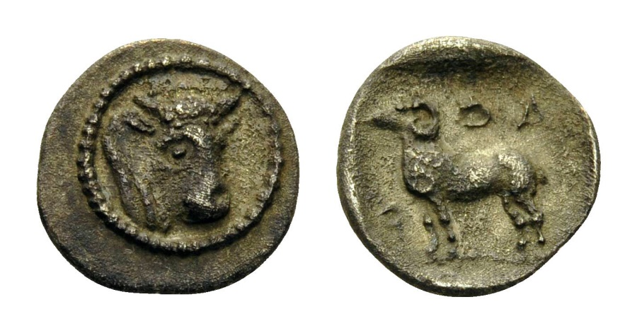 Ancient Coins - THESSALY, Pharkadon. c. 440-400 BC. Hemiobol.