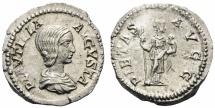 Ancient Coins - Plautilla. Augusta, AD 202-205. Denarius.