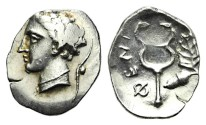Ancient Coins - ARKADIA, Pheneos. Circa first or early 2nd quarter of the 4th century. Obol.