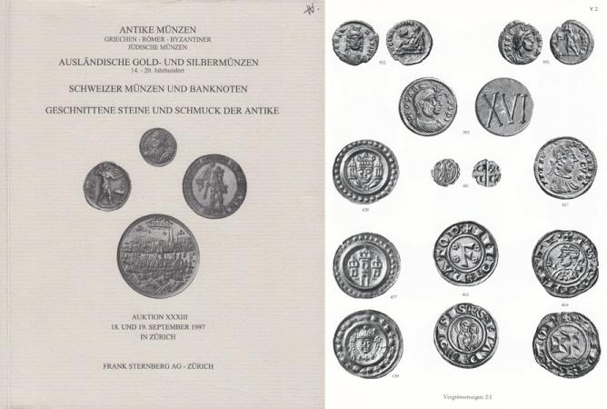 Frank Sternberg Ag Auction Xxxiii Catalogue Antike Münzen