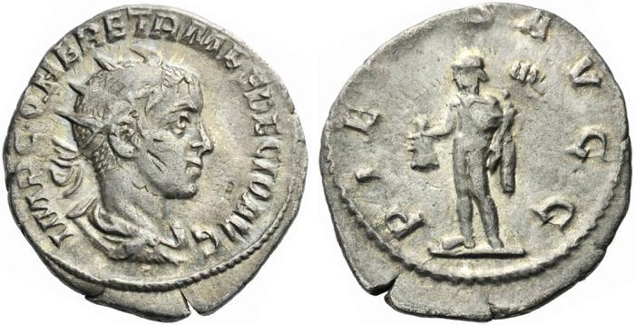 Ancient Coins - Herennius Etruscus. As Augustus, AD 251. Antoninianus.