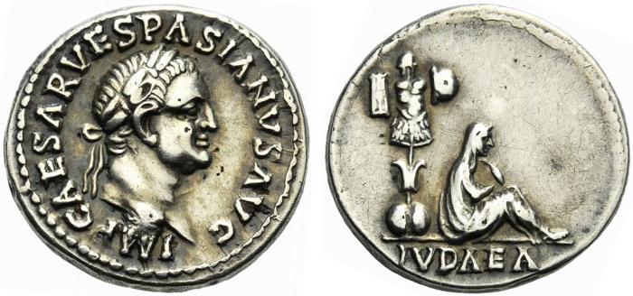 Ancient Coins - Vespasian. AD 69-79. Fourrée Denarius.