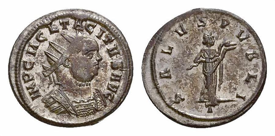 Ancient Coins - Tacitus AE silvered antoninianus, Salus reverse