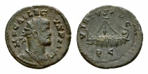 Ancient Coins - Allectus AE Quinarius, Galley reverse, scarce