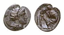 Ancient Coins - Tarentum AR Diobol, c. 380-325 BC, ex Dr. R. Maly collection and ex Leu sale
