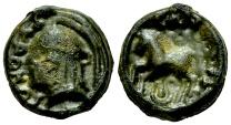 Ancient Coins - Sequani AE Potin, Turonos Cantorix, c. 50 BC