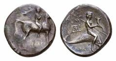 Ancient Coins - Tarentum AR Nomos, c. 272-240 BC