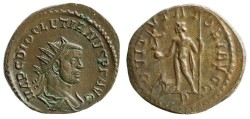 Ancient Coins - Diocletianus Antoninianus, Lugdunum, Jupiter reverse RIC V 53