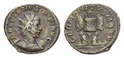 Ancient Coins - Gallienus AR Antoninianus, German victory reverse