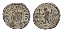 Ancient Coins - Diocletianus AE silvered antoninianus, Jupiter reverse
